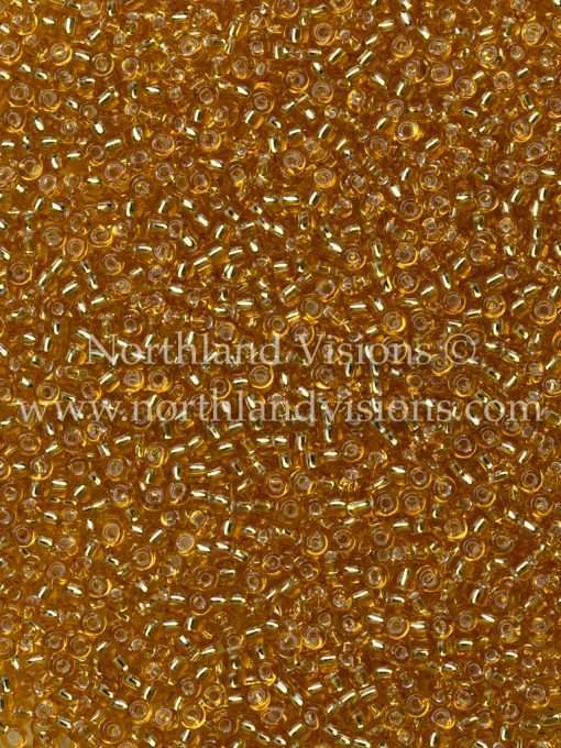 Japanese Seed Bead, 4, Transparent Amber Silver Lined, 11/0 30 grams