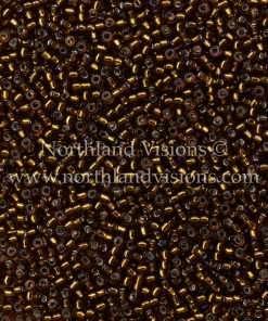 Japanese Seed Bead, Matsuno 11-5, Transparent Dark Amber Silver Lined, 11/0 30 grams