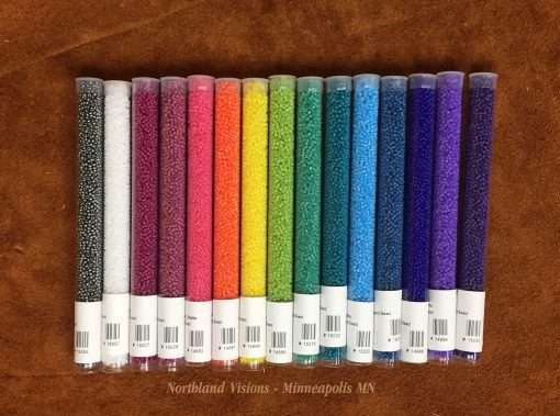 Japanese 11/0 Seed Beads, Opaque Matte Set, 15 Colors x 30 grams