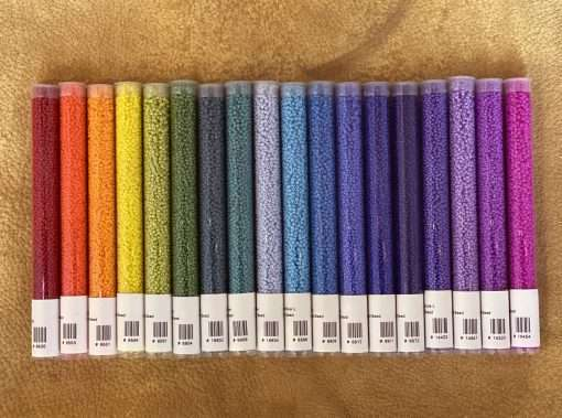 Japanese 11/0 Seed Bead Opaque Starter Set, 18 Color x 30 grams