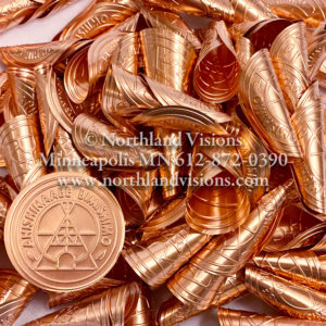 18322-Small-childs-Copper-Embossed-Jingle-Cone-Anishinaabe-Bimishimo