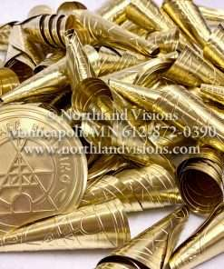 Adult Brass Embossed Jingle, Native Produced In Canada, High Quality no Flake Finish, with a Deeper Sound.