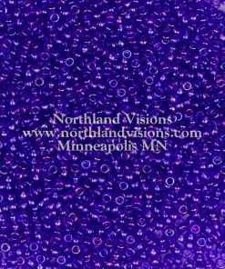 Japanese Seed Bead, Miyuki 11-299, Transparent Cobalt AB, 11/0 30 grams