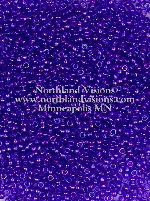 Japanese Seed Bead, 299, Transparent Cobalt AB, 11/0 30 grams
