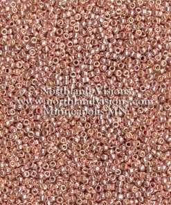 Japanese Seed Bead, P475, Perma Light Copper, 11/0 30 grams