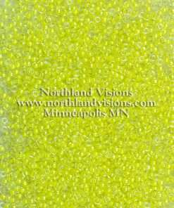 Japanese Seed Bead, Miyuki 11-1119/205D, Transparent Crystal Neon Bright Yellow, 11/0