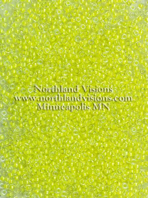 Japanese Seed Bead, Miyuki 11-1119/205D, Transparent Crystal Neon Bright Yellow, 11/0