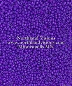 Japanese Seed Bead, 419F, Opaque Deep Purple, 11/0 30 grams