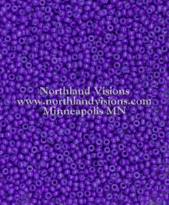 Japanese Seed Bead, 419F, Opaque Deep Purple, 11/0 30 grams