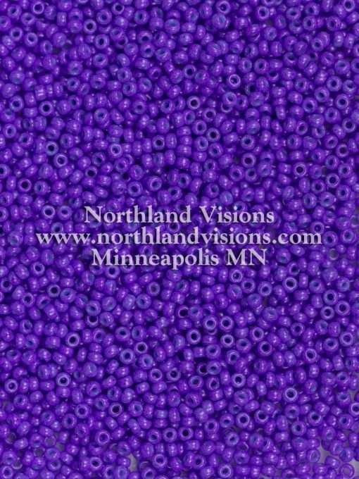 Japanese Seed Bead, Miyuki Round Rocailles 11-419F, Opaque Deep Purple, 11/0 30 grams