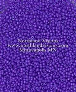 Japanese Seed Bead, 419G, Opaque Purple, 11/0 30 grams