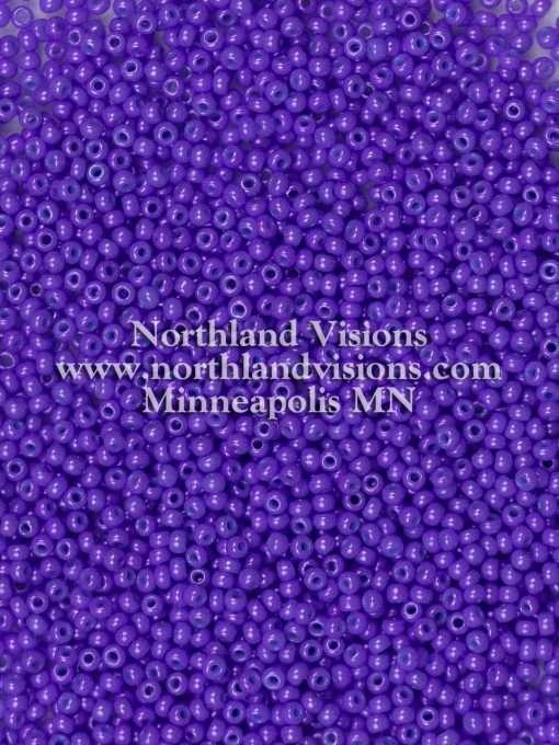 Japanese Seed Bead, 419G, Opaque Deep Purple Luster, 11/0 30 grams