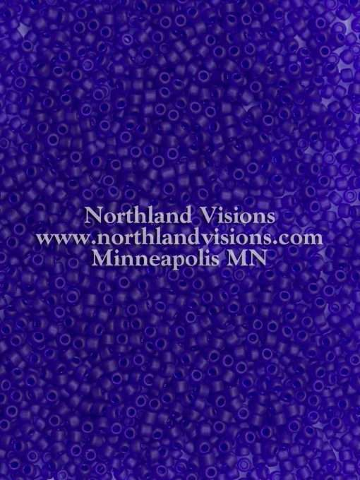 Japanese Seed Bead, Matsuno 11-F151, Transparent Cobalt Blue Matte, 11/0 30 grams