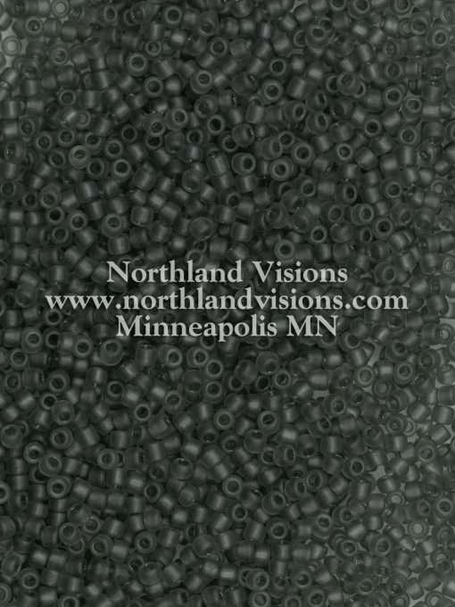 Japanese Seed Bead, 11-F152, Transparent Dark Grey Matte, 11/0 30 grams