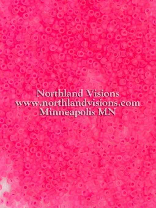 Japanese Seed Bead, Matsuno 11-F207A, Crystal Neon Pink Matte, 11/0