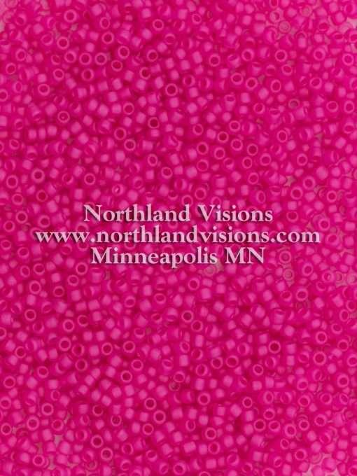Japanese Seed Bead, Matsuno 11-F209, Transparent Crystal Neon Fuchsia Matte, 11/0 30 grams