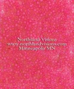Japanese Seed Bead, Matsuno F209A, Transparent Crystal Neon Raspberry Matte, 11/0 30 grams
