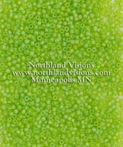 Japanese Seed Bead, Matsuno 11-F258, Transparent Light Green AB Matte, 11/0 30 grams