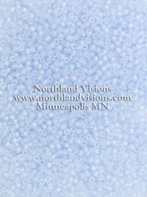 Japanese Seed Bead, Matsuno F260C, Transparent Powder Blue AB Matte, 11/0 30 grams