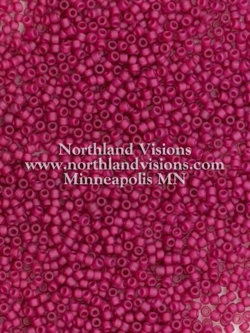 Japanese Seed Bead, Matsuno 11-F399D, Transparent Dark Fuchsia AB Matte, 11/0 30 grams