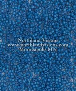 Japanese Seed Bead, Matsuno 11-F399N, Transparent Denim AB Matte, 11/0 30 grams