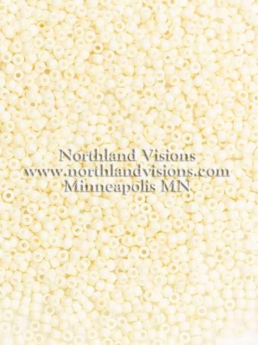 Japanese Seed Bead, TOHO 762/F400, Opaque Bone Matte, 11/0