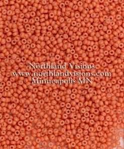 Japanese Seed Bead, Miyuki 11-F403B, Opaque Apricot Matte, 11/0 30 grams