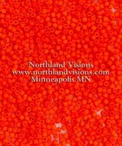 Japanese Seed Bead, Matsuno 11-F406, Opaque Red Orange Matte, 11/0 30 grams