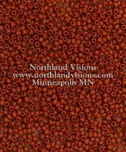 Japanese Seed Bead, TOHO 46LF/F409A, Opaque Brown Matte, 11/0