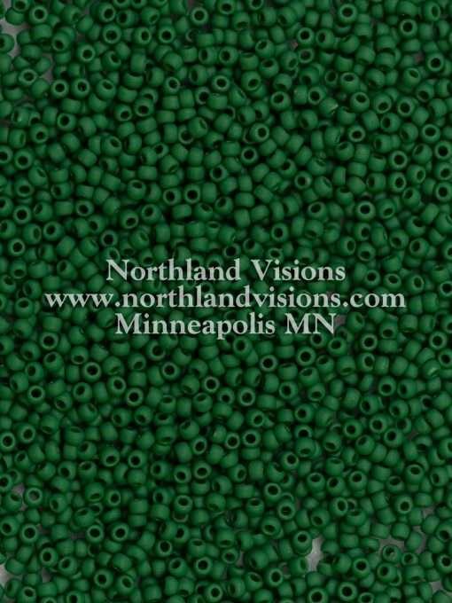 Japanese Seed Bead, TOHO 47HF/F411B, Opaque Dark Green Matte, 11/0