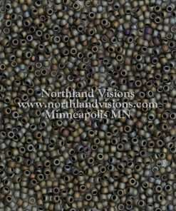 Japanese Seed Bead, F451A, Opaque Grey AB Matte, 11/0 30 grams