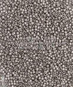 Japanese Seed Bead, TOHO-F451D, Opaque Metallic Pewter Matte, 11/0 30 grams