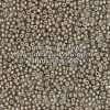Japanese Seed Bead, Miyuki 11-F451E, Opaque Warm Grey Metallic Matte, 11/0 30 grams
