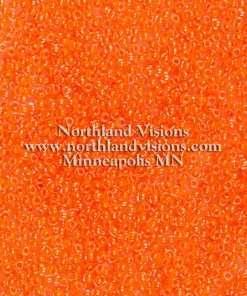 Japanese Seed Bead, TOHO 11-802/11-205B, Transparent Crystal Neon Dark Orange, 11/0 30 grams