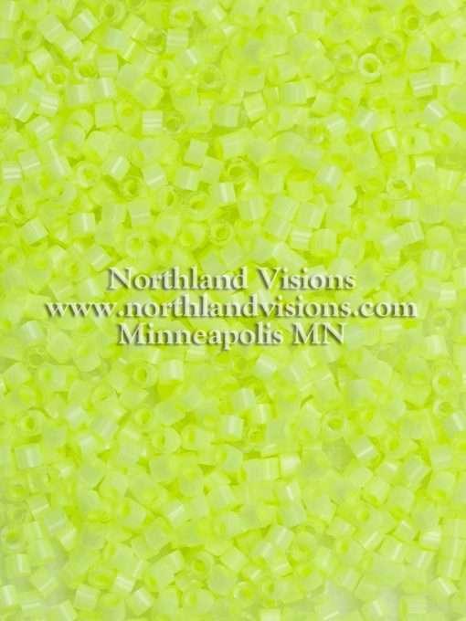 Miyuki Delica Cylinder Bead, DB1857, Silk Satin Limeade, 11/0 7 grams