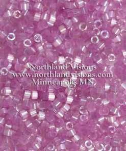 Miyuki Delica Cylinder Bead, DB1866, Silk Satin Orchid AB, 11/0 7 grams