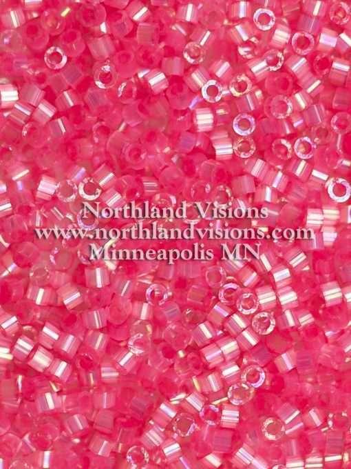 Miyuki Delica Cylinder Bead, DB1867, Silk Satin Rose AB, 11/0 7 grams
