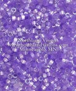 Miyuki Delica Cylinder Bead, DB1868, Silk Satin Lilac AB, 11/0 7 grams