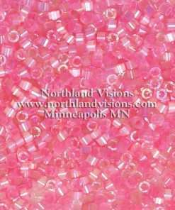 Miyuki Delica Cylinder Bead, DB1875, Silk Satin Light Carnation AB, 11/0 7 grams