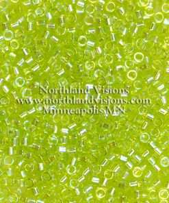 Miyuki Delica Cylinder Bead, DB0174, Transparent Chartreuse AB, 11/0 7 grams