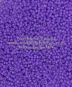 Japanese Seed Bead, 419A, Opaque Eggplant Purple, 11/0 30 grams