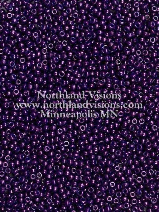 Japanese Seed Bead, Miyuki 11-430I, Opaque Dark Purple Luster, 11/0 30 grams