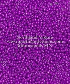 Japanese Seed Bead, 439, Opaque Purple Red Luster, 11/0 30 grams
