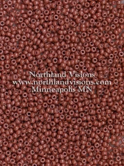 Japanese Seed Bead, Miyuki 11-403F, Opaque Dark Mauve, 11/0 30 grams