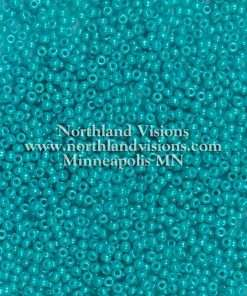 Japanese Seed Bead, 413F, Opaque Deep Turquoise Luster, 11/0 30 grams