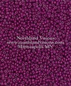 Japanese Seed Bead, Miyuki Round Rocailles 11-418B, Opaque Light Plum, 11/0