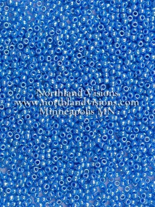 Japanese Seed Bead, TOHO 11-124D/11-430E, Opaque Bodemer Blue Luster, 11/0 30 grams