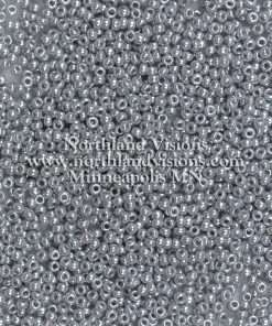 Japanese Seed Bead, Miyuki 11-449B, Opaque Steel Grey Luster, 11/0 30 grams
