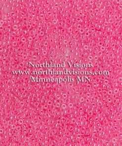 Japanese Seed Bead, Miyuki Round Rocailles 11-518B, Ceylon Hot Pink Luster, 11/0