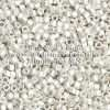 Miyuki Delica Cylinder/Seed Bead, DB0551F/DB551F, Opaque Metallic Sterling Silver Plated Matte, 11/0 7 grams